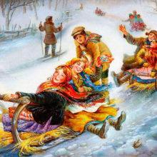 Познавательно-развлекательная программа «В мороз на Святки веселись без оглядки» @ Библиотека им. Н.К. Крупской