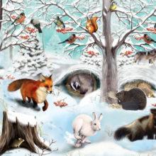 Беседа-игра «Добро пожаловать, Зима, или как зимуют звери» @ Библиотека им. А.И. Люкина
